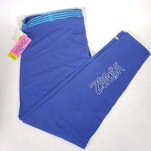 Zumba What is Mine Capri Leggings Blue XXLarge
